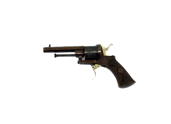 French Made Pin-Fire Top Revolver Black Powder
