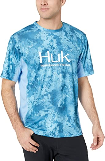 Huk Icon X Current Camo Short Sleeve Apparel