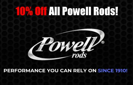 Powell Rods On Sale At Guns, Fishing and Other Stuff