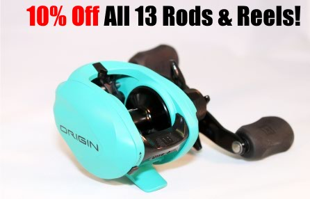 10% off all 13 Rods and Reels at Guns, Fishing and Other Stuff