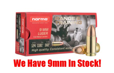 9mm Ammunition In Stock At Guns, Fishing and Stuff